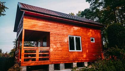 Domek zbudowany technologią szkieletowo-drewnianą Szczecin